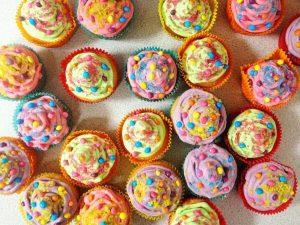 multi coloured cake